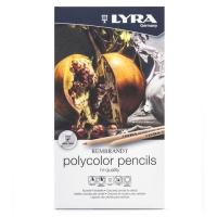 مداد رنگی حرفه ای پلی کالر لیرا 12 رنگ